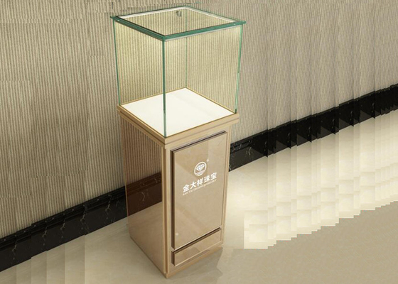 Modern Jewelry Glass Display Cabinet With Lights , Retail Jewelry Display Cases