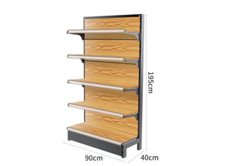 Customized Size MDF Supermarket Display Racks , Grocery Store Display Shelves