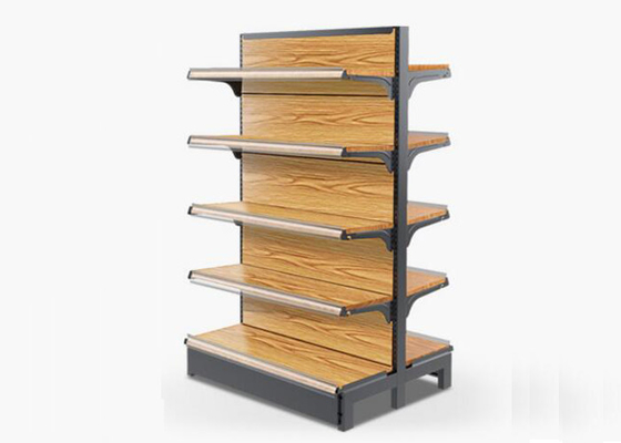 China Customized Size MDF Supermarket Display Racks , Grocery Store Display Shelves supplier
