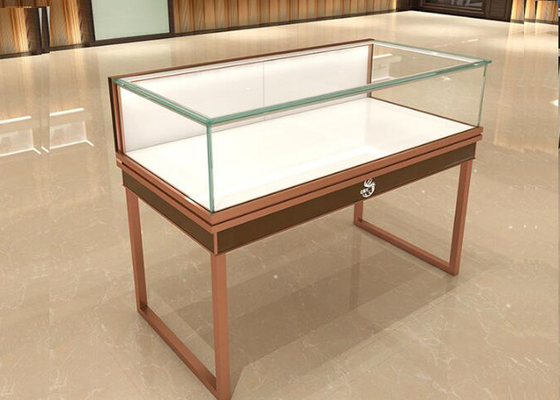 Multifunction Commercial Jewelry Display Cases Glass Top With Drawer Board