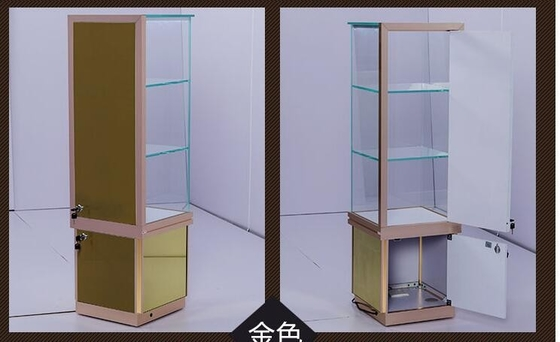 Free Standing Jewelry Store Showcases with Glass 3 Layers Tempered Clear Shelf supplier