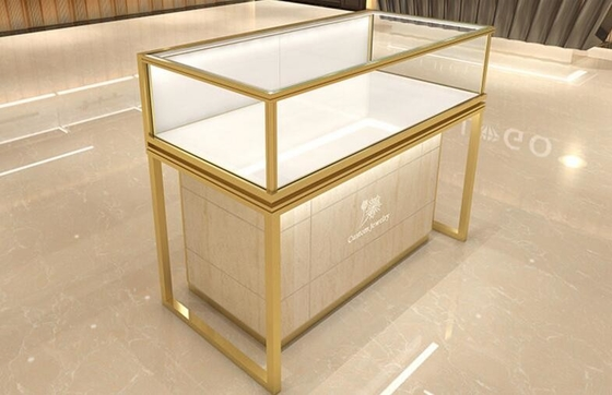 Fashion Wooden MDF Painting Jewelry Store Showcases / Jewelry Display Fixtures