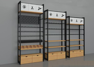 Wall Side Retail Store Display Fixtures / Grocery Store Shelves Easy Install