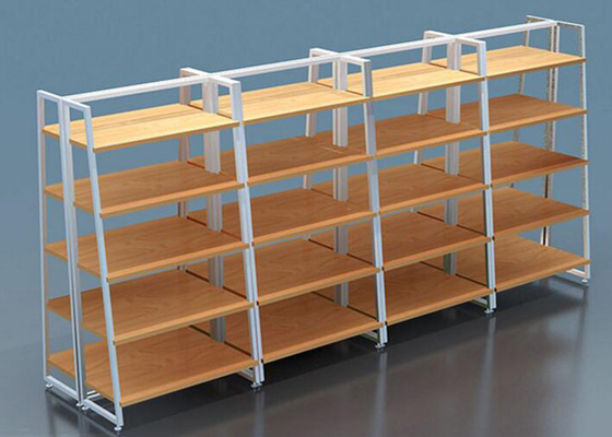 Multi Layers Laminated Retail Display Shelves Metal Frame For Shopping Mall supplier
