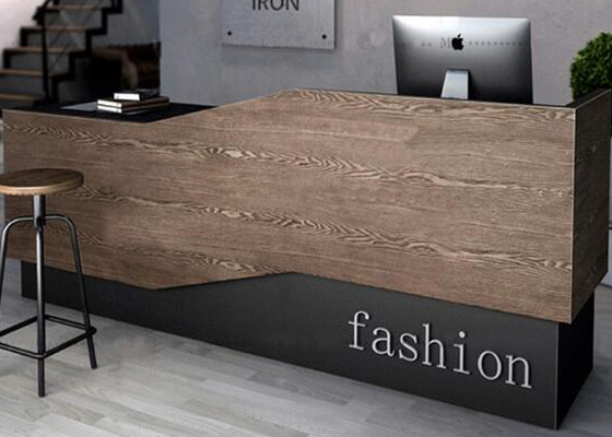 Elegant Customized Size Retail Checkout Counter With Acrylic / Silkscreen Logo supplier