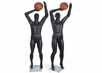 Black Male / Female Sport Shop Display Mannequin For Gym Suits Display