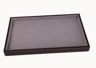 Wooden / Leather Frame Merchandising Display Boxes For Punch , Purse , Wallet