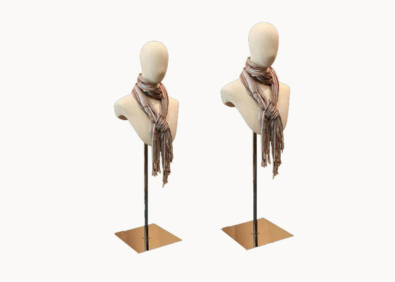 Adjustable Height Scarf Metal Display Holder , Retail Scarf Display Stand
