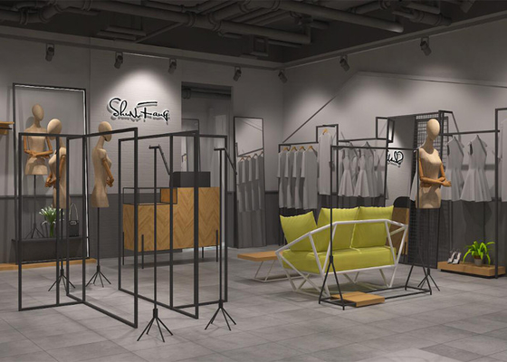 Nice Looking Clothing Display Rack / Store Fixtures And Displays Custom Color
