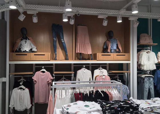 Decorative Commercial Apparel Store Fixtures , Department Store Clothing Racks