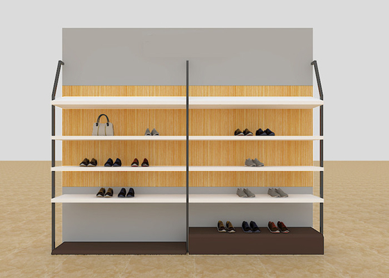 Leisure Shoe Store Display Shelves / Footwear Display Stands With KD Version