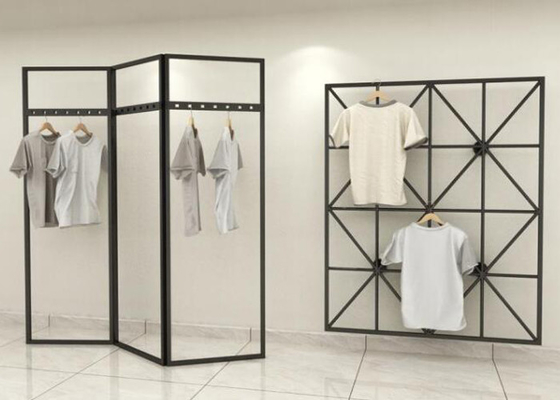 Fashionable Style Clothing Display Rack / Metal Retail Clothes Display Stands