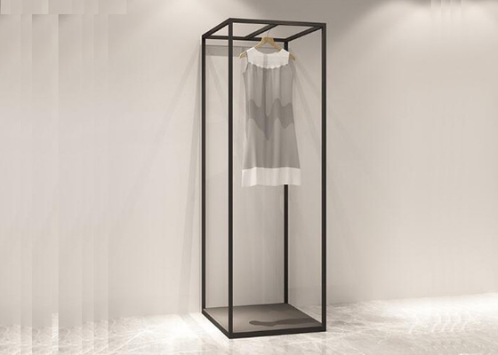 RAL Black Color Commercial Clothes Racks And Stands For Shops Or Showrooms
