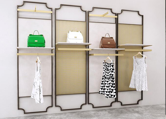 3D Design Clothes Display Stand / Clothing Store Wall Displays Fixtures