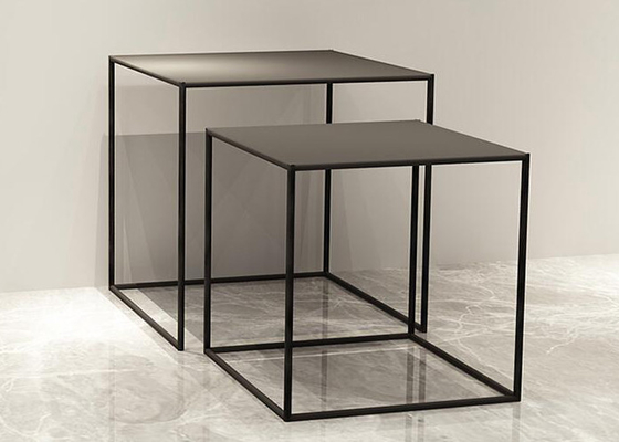 Mini Tube 9mm Thinckness Top Panel Square Nesting Tables For Garment / Shoes