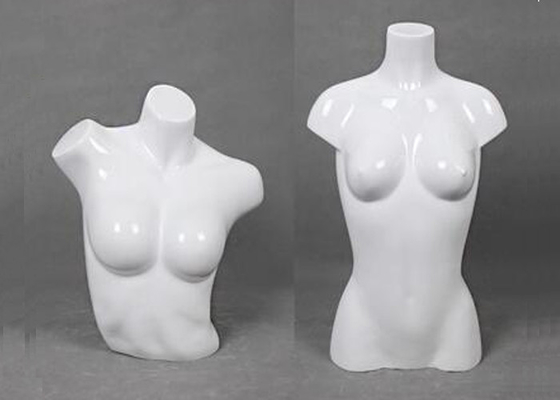 Glossy Female Upper Boday Shop Display Mannequin 100% FRP Unbreakable