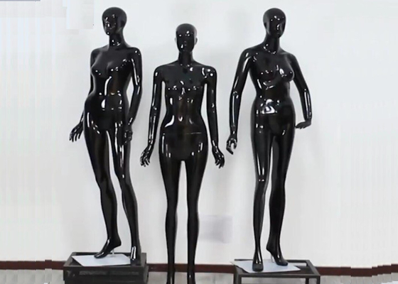Woman Full Boday Matt Black Clothing Display Mannequin With Different Poses