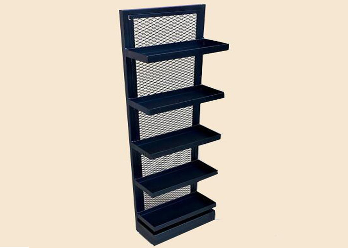 China Metal Power Coated Retail Store Display Shelves , Commercial Shop Display Racks factory